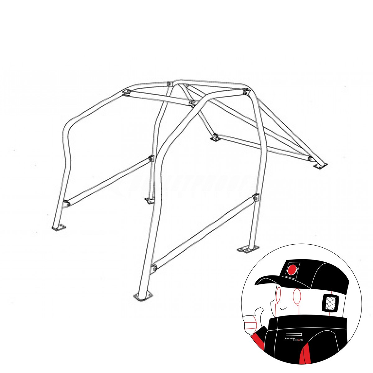 Cusco Safety21 Rollcage Toyota Corolla AE86 9pts Special Xbar Edition