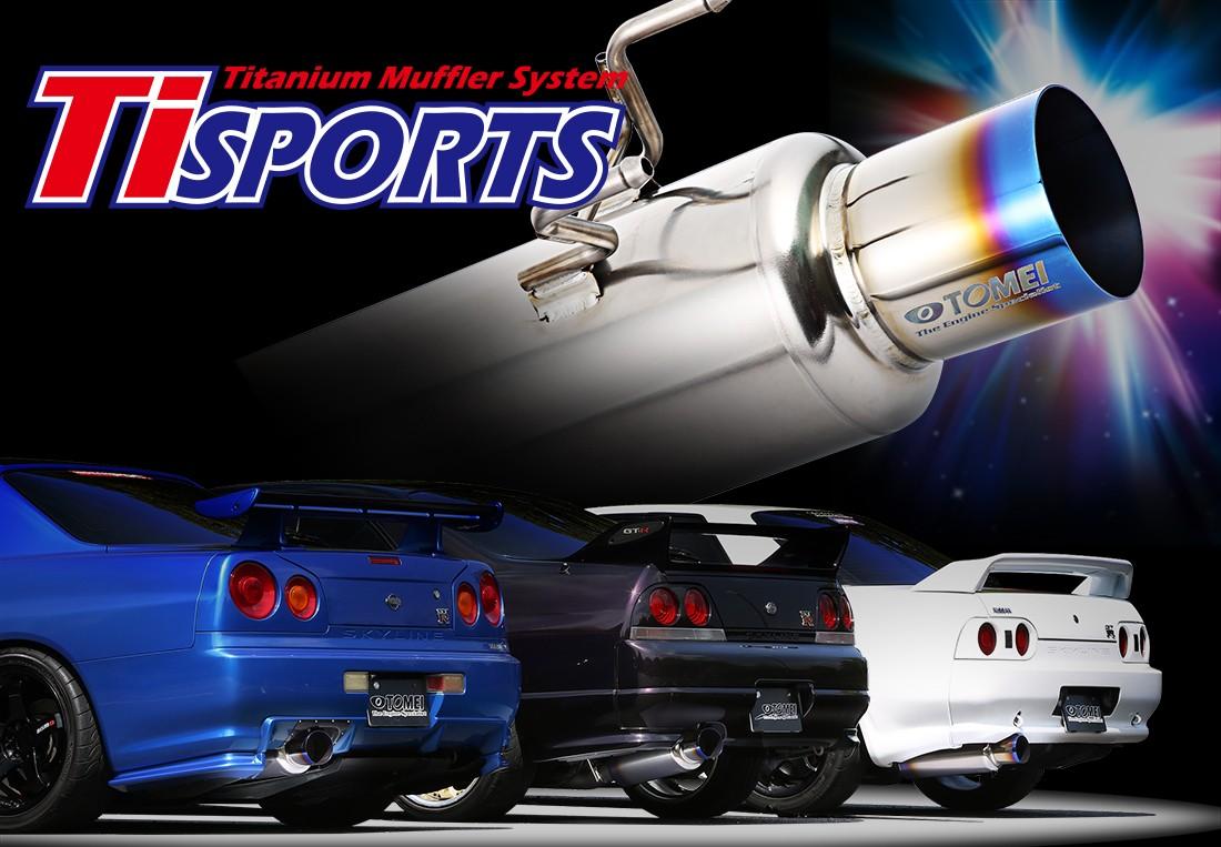 Tomei Ti SPORTS TITANIUM MUFFLER for BNR32/BCNR33/BNR34