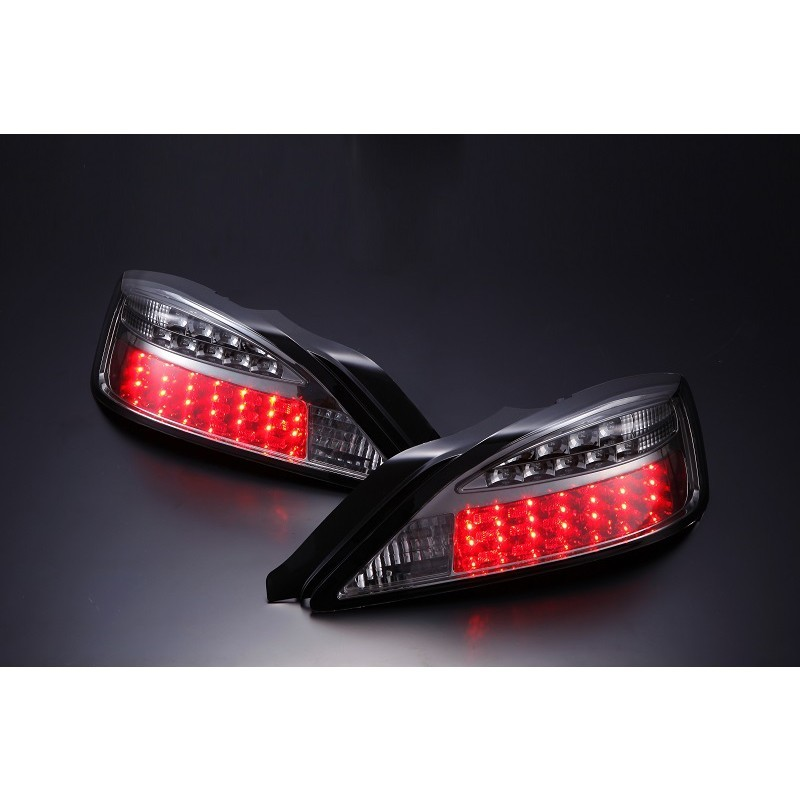 D-MAX Nissan Silvia S15 Smoked LED Blinker Type Black Tail Lights - Pair
