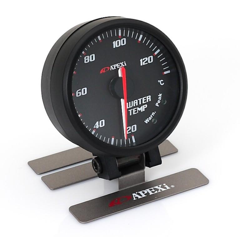 Apexi Elli System Meters B Water temperature (black face, black bezel)