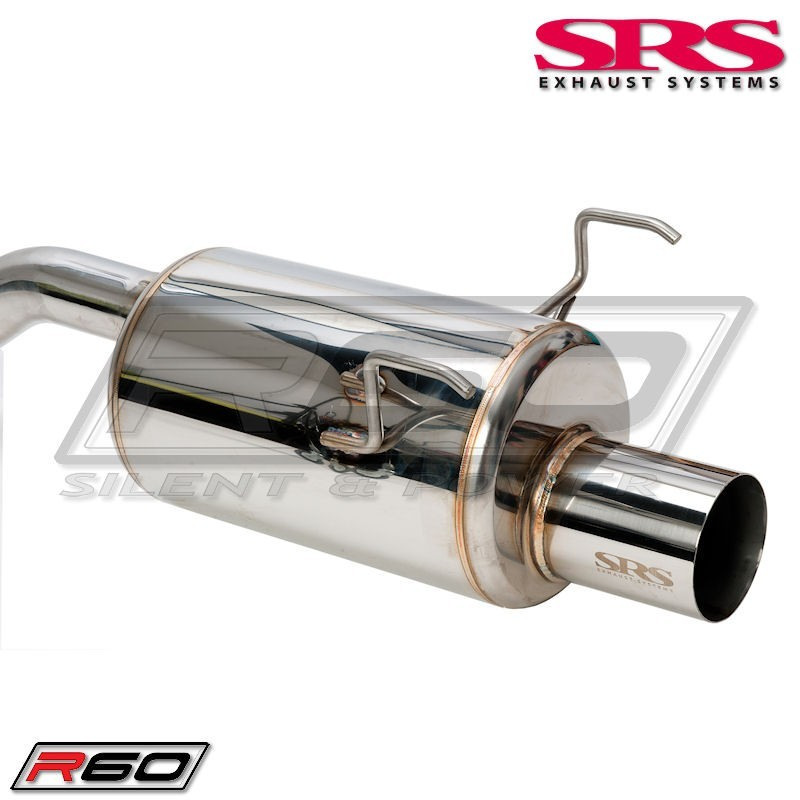 SRS Exhaust Systems R60 Catback System Including CH homolgation for Honda Civic 92-95 3D