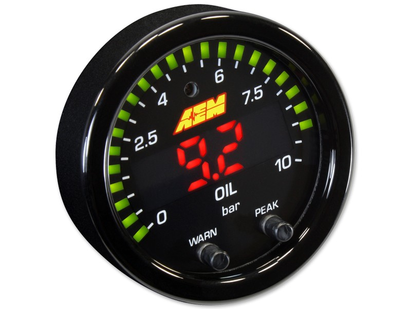 AEM X-Series Oil Pressure Gauge 0~150psi / 0~10bar, Part Nr. 30-0307