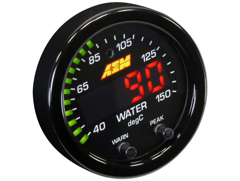 AEM X-Series 300F/150C Water/Trans/Oil Temp Gauge Part Number: 30-0302