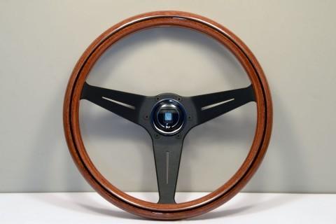 Nardi Steering Wheel Wood Deep Corn, (Mahogany wood), Black spokes 360 mm 5069.35.2000