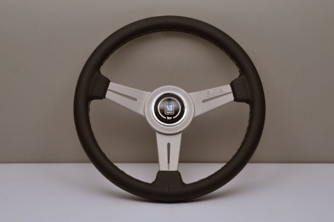 Nardi Steering Wheel Deep Corn Black suede leather Red stitching Black spokes 330mm 6069.33.2094