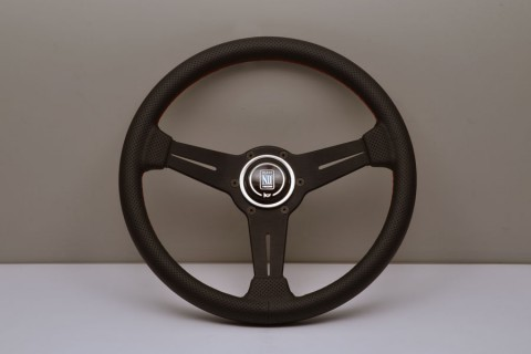 Nardi Steering Wheel ND Classico Black suede and black anodized spokes, black stitching 330mm 6061.33.2081