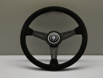 Nardi Steering Wheel ND Classico Black suede and black anodized spokes, black stitching 360mm 6061.36.2081
