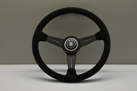 Nardi Steering Wheel ND Classico Black leather and glossy spokes, grey stitching 360mm 6061.36.3001