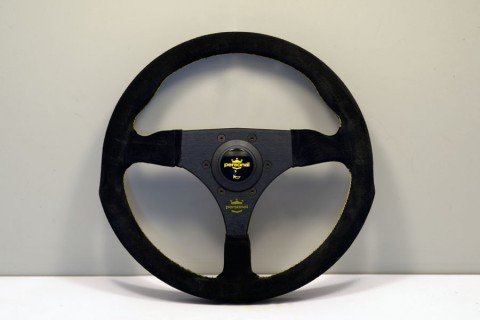 Personal Steering Wheel Black leather and Black suede Black spokes  330mm 6521.33.2091