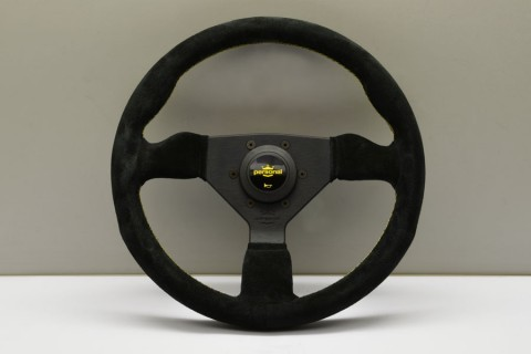 Personal Steering Wheel Black leather and Black spokes Yellow stitching 330mm 6430.33.2095