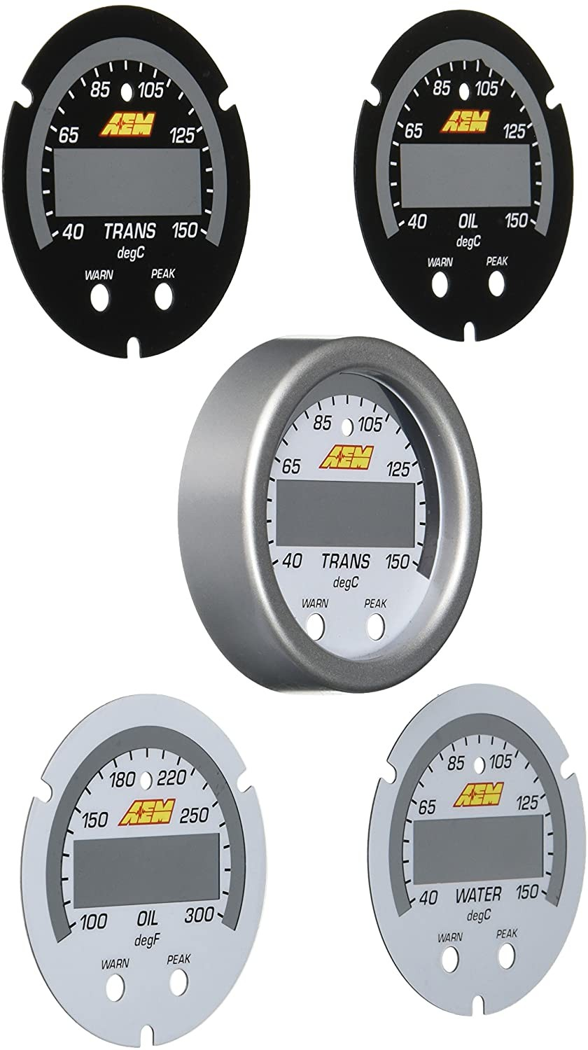 AEM X-SERIES DIGITAL TEMPERATURE GAUGE FACE/BEZEL KIT (UNIVERSAL) 30-0302-ACC